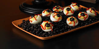 Eyeball Appetizers For Halloween by Bloodshot Deviled Eyeballs At Woman U0027s Day Halloween Recipes