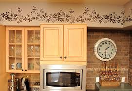 kitchen wallpaper borders ideas kitchen stencil ideas 12003