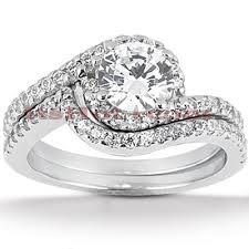 unique engagement ring settings 14k gold unique engagement ring set 0 44ct