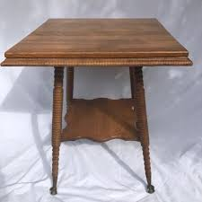 claw foot table with glass balls in the claw victorian quarter sawn tiger oak glass ball claw foot parlor table