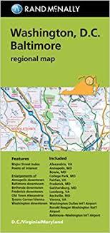 washington dc region map rand mcnally folded map washington d c baltimore regional