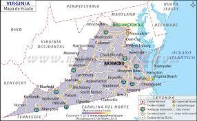 maryland mapa el mapa estado de virginia estados unidos de america