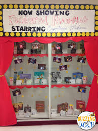 buzzing with ms b movie themed bulletin boards and displays