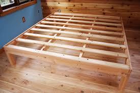 stylish wooden platform bed frames with best 25 wood platform bed