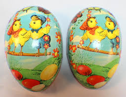 paper mache easter eggs vintage large paper mache easter egg candy container west germany