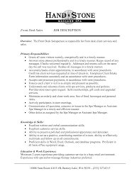 Resume For Spa Manager 100 Front Desk Cover Letter Hotel Resume For Administrative