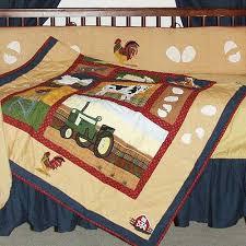 Tractor Crib Bedding Patch Magic Barnyard Animals 6 Crib Bedding Set