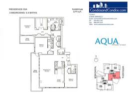 777 Floor Plan by Aqua Allison Island Condos For Sale Miami Beach