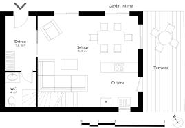 plan de maison avec cuisine ouverte plan de maison avec cuisine ouverte plan cuisine ouverte salle