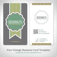 free simple yet elegant vintage business card design template with