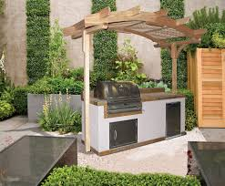 Small Outdoor Kitchen Design by Surprising Design Ideas Using U Shaped Brown Islands And Silver
