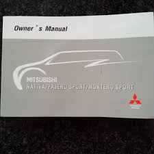 pajero sport owners manual