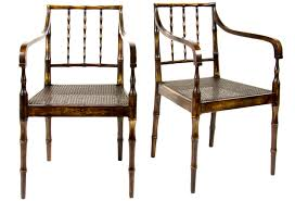 Dining Chairs Toronto by 1950 U0027s Faux Bamboo Cane Chairs Pair Omero Home