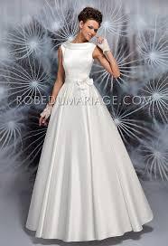 robe de mari e satin robe de mariée vintage col montant bustier satin robe pas chere