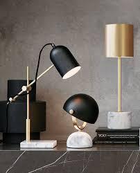Light Table Desk The Beacon Lighting Cheswick 1 Light Table Lamp In Black Marble
