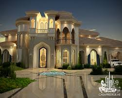 Mansion Design Heteen Palace Type A On Behance Arabic Exterior Design