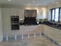 Kitchen Cabinet Led Downlights Spots Not Blue Led Though High Gloss Cream Kitchen Decoration