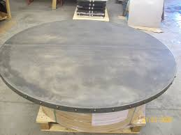 Zinc Table Top 22 150cm Diameter Zinc Table Top Offset Seam Edge Trim U2026 Flickr