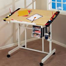 wooden drafting table with storage home table decoration