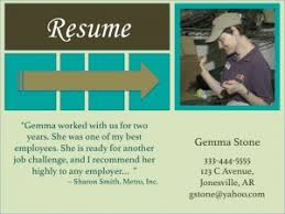 Visual Resume Examples Visual Resumes U2013 Trn Online Disability Training