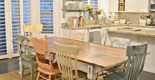 chairs to go with farmhouse table diy chippy farm table w mismatched chairs hometalk