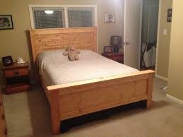 Bed Frame Plans White Wooden Bed Frame Pretty Frames Single With Storage