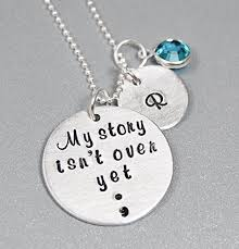 Hand Stamped Necklace Amazon Com Hand Stamped Jewelry Sterling Silver Semicolon