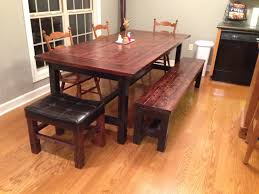farm tables with benches diy how to build a farmhouse table and bench youtube