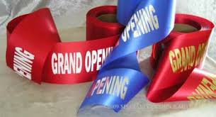 grand opening ribbon wide ribbons ribbon cutting scissors grand opening supplies