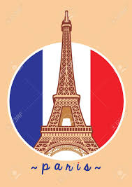 Paris Flag Image Eiffel Tower Of Paris With France Flag Background Royalty Free