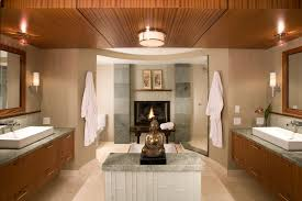 bathroom ideas contemporary 25 master bathrooms with a fireplace