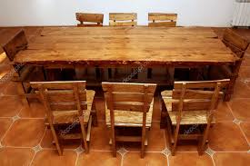 hand crafted kitchen tables hand made large kitchen table stock photo gdolgikh 5728474
