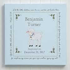 Baptism Engraved Gifts Personalized Baptism Blessing Canvas Art Large Baby Gifts