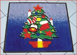 tappeti asciugapassi tappeto asciugapassi cm 85x75 albero di natale tappeti asciugapassi