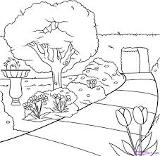 flower garden drawing how to draw easy cartoon flowers how to