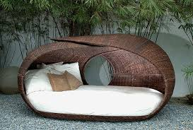 round patio stone furniture comfortable round wicker outdoor daybed for patio