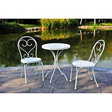 small patio table with two chairs amazon com small space scroll 3 piece chairs table outdoor