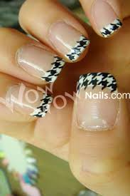 houndstooth nail tips bama rtr pinterest