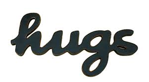 hugs word decor