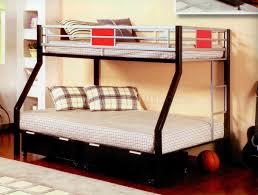 Futon Bunk Bed Walmart Furniture Grey Metal Bunk With Blue And Futon On Laminate