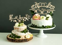 a and we re cake topper laser cut wedding cake topper omg we re married light paper