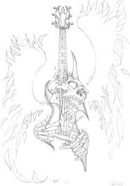 skull guitar pictures sketch ideas tattoomagz