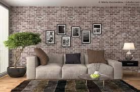 wohnzimmer grau braun wohnzimmer graubraun shaggy teppich deko folie baumzweige