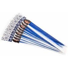 blue hair extensions horizon usa create out loud blue hair extension 9pk