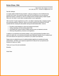 Resume For Cna Examples by Cover Letter Of Nursing Assistant