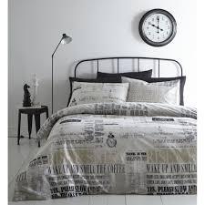 linen house good morning sunshine black and white duvet set