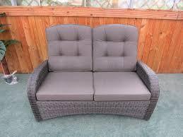 Rattan Two Seater Sofa Reclining Rattan 4 Seater Sofa Set Grey Buy Garden Furniture