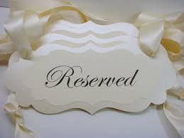 Wedding Seating Signs Wedding Reserved Signs