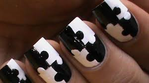 puzzle nails art designs matte nail polish designs black and