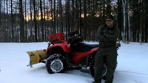 honda rancher 420 snow plowing final thoughts youtube